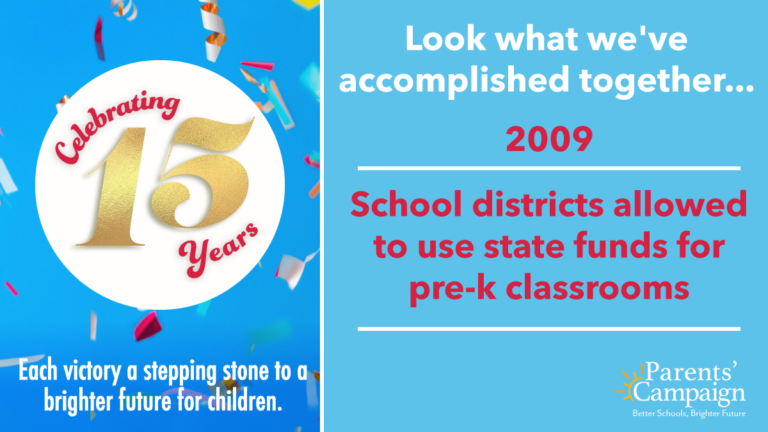 Believe it or not, before 2009 Mississippi's public schools were specifically prohibited by law from spending their state funds on preschool classrooms. The Parents' Campaign and other groups advocated for – and achieved – a change in the law that allowed school districts to start offering publicly-funded preschool to the youngest children in their districts.