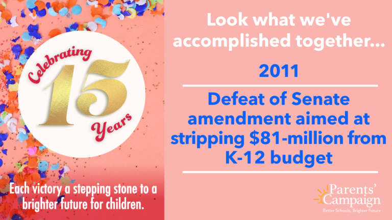 """We took our """"Stop the Cuts"""" campaign statewide to engage Mississippians in the fight to protect school funding. You came through again! Senators responded to your calls with bipartisan defeat of a measure that would have stripped $81-million from the K-12 budget."""
