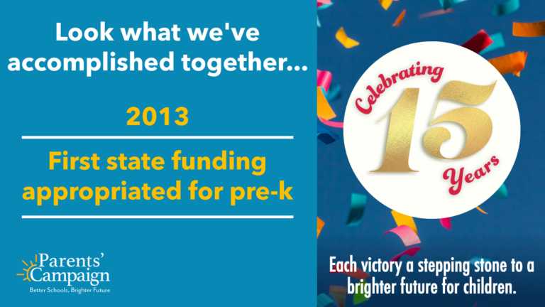 A big and long-fought-for win for Mississippi's youngest learners came in 2013:  our first ever state appropriation dedicated to pre-k, which research shows earns a truly amazing return on investment of up to $17 for every $1 invested.